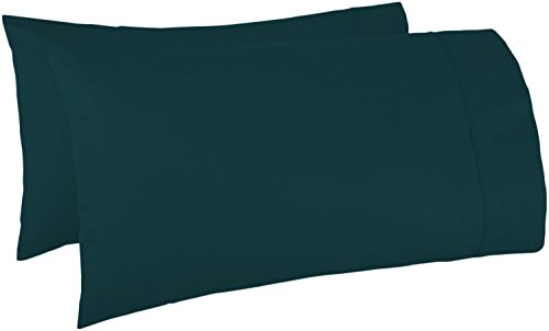 600 Thread Count 100% Egyptian Cotton Pillow Cases, Teal Standard Pillowcase Set of 2, Long-Staple Combed Pure Natural 100% Cotton Pillows for Sleeping, Soft & Silky Sateen Weave Bed Pillow Cover