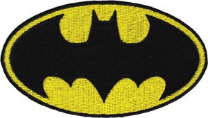 Batman Dark Knight DC Comics Movie Classic Bat Logo Iron On Applique Patch DC08]()