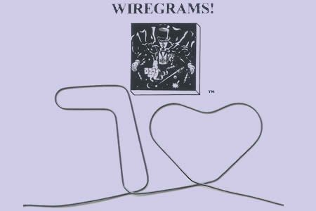 Wiregram - Memory Wire (7 of hearts) with Video Tutorial - Magic Trick