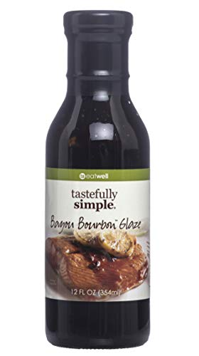 Tastefully Simple Bayou Bourbon Glaze - 12 Fl oz (The Best Bourbon Chicken)