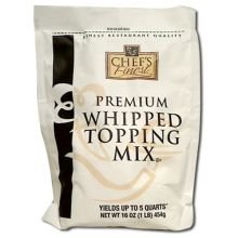 Chefs Finest Whipped Topping Mix, 16 Ounce -- 12 per case.