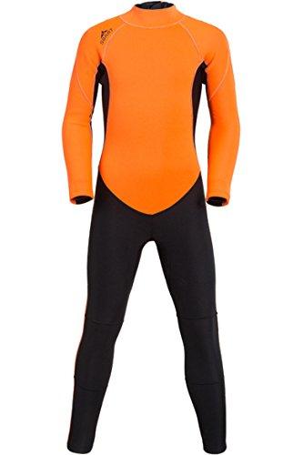 Kids Neoprene Full Wetsuit 2MM One Piece Swimsuit for Boys Girls UV Protection for Swim Surf Snorkel Scuba ()