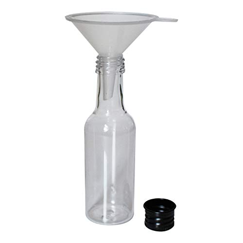 BELLE VOUS Liquor Bottles (24 Pcs)- Mini 55ml Plastic Empty Liquor Bottles with Black Cap and Liquid Funnel for Pouring Liquid in Bottles - Great for Weddings, Party Favors, Arts, Paints and Events by BELLE VOUS (Image #3)