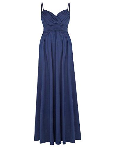 Sleeveless Ruched Maternity Dress (Womens Ruched Sleeveless Maternity Dress M KK674-3)