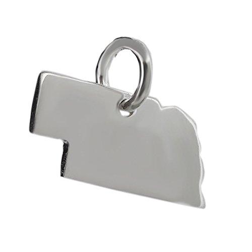 - Nebraska State Charm - 925 Sterling Silver for Bracelet NE Omaha Lincoln Corn - Jewelry Accessories Key Chain Bracelets Crafting Bracelet Necklace Pendants