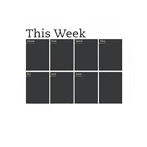- Week Plan Calendar Chalkboard MEMO Blackboard Vinyl Wall Sticker 4558cm By Ikevan
