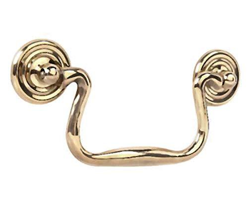 Bail Pull Solid Brass Swan Necks w/Rosette 3