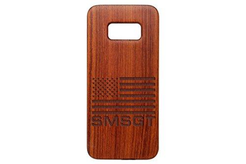 for Samsung Galaxy S8 Bamboo Wood Phone Case NDZ Us Flag E-8 Airforce Senior Master Sergeant (E8 Senior Master)