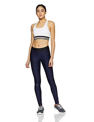 Under Armour Womens Heatgear Armour Leggings, Midnight Navy /Metallic Silver, XX-Large by Under Armour (Image #6)