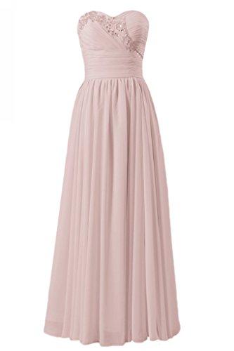 rosa Abito Di D'onore Chiffon Qualità Vestito 18 Perline Di Daisyformals bm1044 Partito Antico Damigella BZxwA