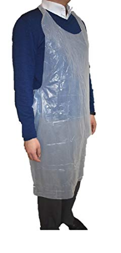 Gmark Poly Apron 40 ct Individual Wrapped, Medium Weight, Disposable Polyethylene PE Aprons Waterproof, Food Industry, Cooking, Painting 40pcs GM0002A ()