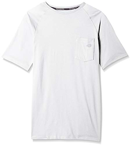 Dickies Men's Short Sleeve Performance Cooling Tee, White, M -  SS600-WH-M