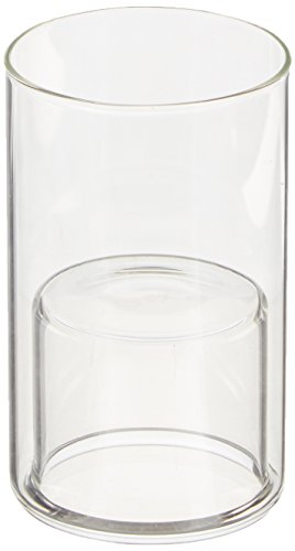 WGV Cylinder Raised Votive Candle Holder, 2,3 by 4-Inch, Clear ()