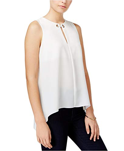 RACHEL Rachel Roy Womens Cut-Out Grommet Tank Top Ivory for sale  Delivered anywhere in USA