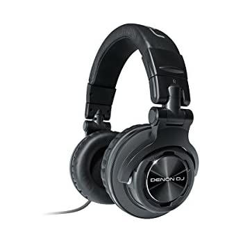 Denon DJ HP1100 | Professional Over-Ear DJ Headphones with 180-degree Cup Swivel & Leather Carry Bag (53mm driver / 3500mW input)