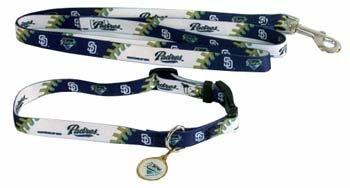 Hunter San Diego Padres Pet Collar (Lead and ID Tag Combo Set), Large