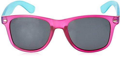 Ocean Sunglasses Beach wayfarer - lunettes de soleil polarisées - Monture : Violet Glacé Transparent/Rouge - Verres : Fumée (18202.29) EEYGrOM