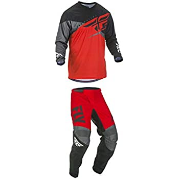 Fly Racing 2019 F-16 Jersey and Pants Combo Youth Red//Black//Gray Medium,22