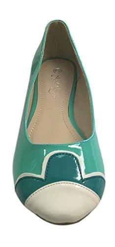 Nichole Simpson Nicole Simpson Kvinna Slip-on Kronblad Patent Ballerina Platta Skor Mint