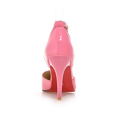 1TO9 Girls Studded Rivet Glass Diamond Buckle Polyurethane Sandals Pink g6S50yD