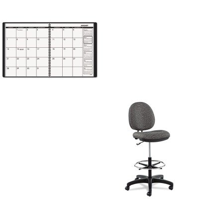 KITAAG7026005ALEIN4641 - Value Kit - Best Interval Series Swivel Task Stool (ALEIN4641) and At-a-Glance Recycled Monthly Planner (AAG7026005) by Best