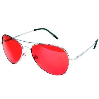 a072cd760d075 Colorful Premium Silver Metal Aviator Glasses with Color Lens Sunglasses  (Red) - Buy Online in UAE.