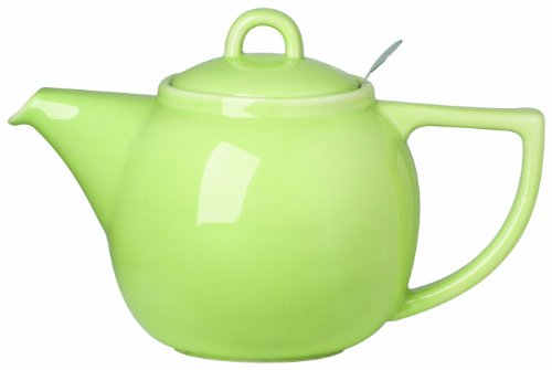 (London Pottery Geo Teapot with Stainless Steel Infuser, 4 Cup Capacity, Pistachio Green)