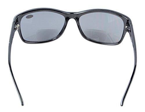 Sunreaders Gafas de lente Bi Bifocal Polarizada Negro Negro 50 3 sol Marco Eyekepper Focal Moda gris Tq41wEP4xR