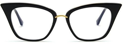 Dita DRX-3031 REBELLA Women Eyeglasses Cat-Eye Gold Frame (Black 18K Gold (A), - Dita Eyewear
