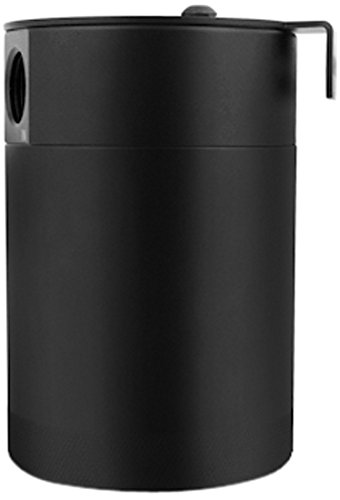 Mishimoto MMBCC-MSTWO-BK Black Compact Baffled 2-Port Oil Catch Can by Mishimoto