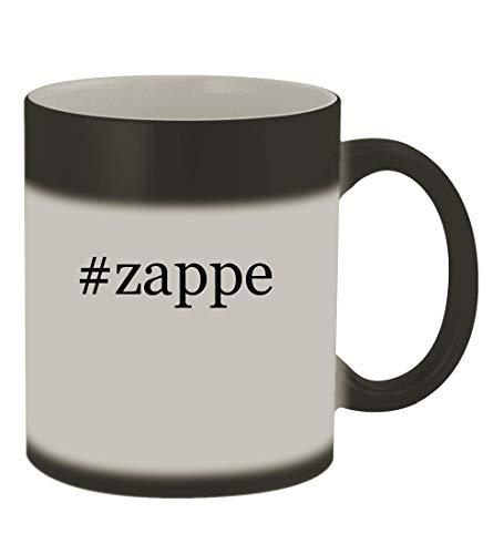#zappe - 11oz Color Changing Hashtag Sturdy Ceramic Coffee Cup Mug, Matte Black -