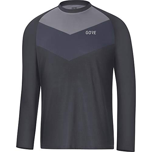 - GORE Wear C5 Men's Cycling Long Sleeve Jersey, M, Gray