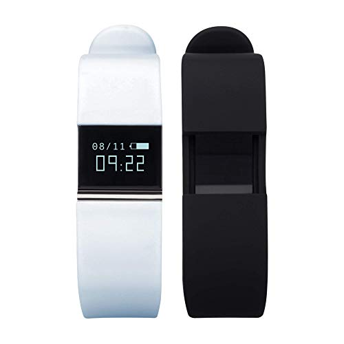 iTouch Quartz Fitness Watch with Rubber Strap, Blue, 20 (Model: IFT2437BK668-BKB)