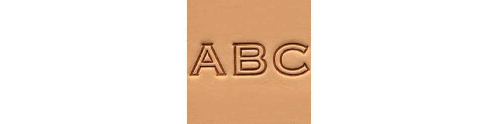 Tandy Leather Craftool� 1/2'' (13 mm) Block Alphabet Set 8143-00 by Tandy Leather