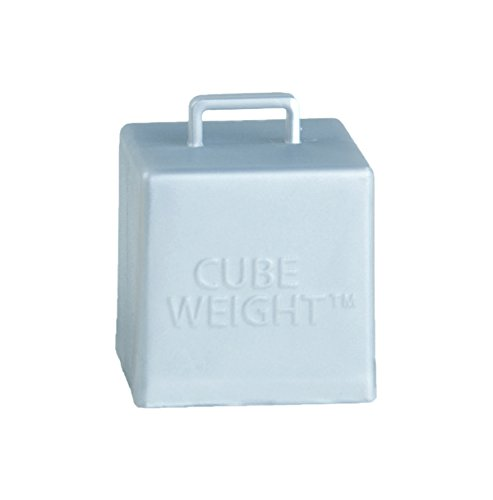 Cube Weight Balloon Weight, 65g, Metallic Silver, 10