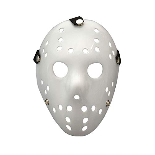 YOMINY 2 Pack Full Face Mask Halloween Mask White DIY Jason Mask Dance Cosplay Masquerade Party Mask Prop Horror Hockey -