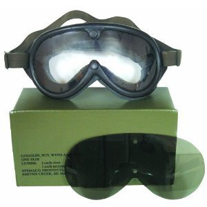 Rothco GI Type Sun-Wind-Dust Goggles, Black,