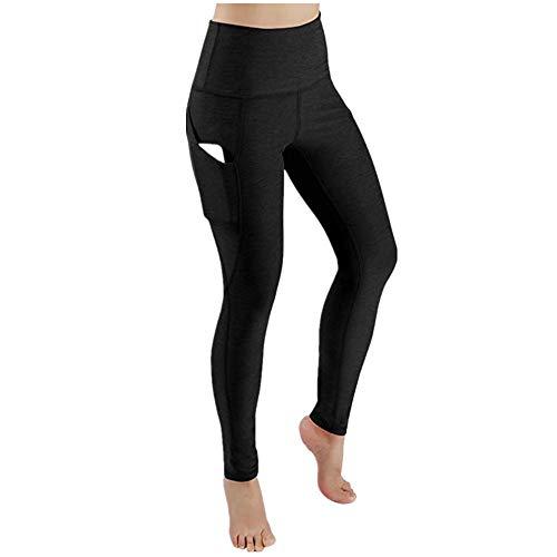 KIKOY Women Casual High Waist Out Pocket Sports Gym Yoga Leggings Athletic Pants