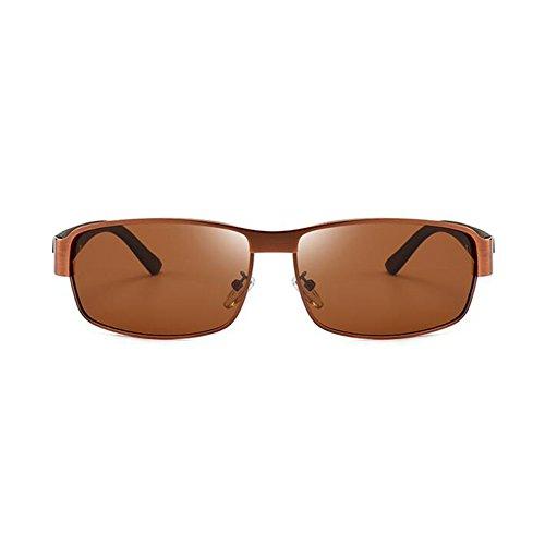 100 Aire Gafas Marrón Polarizada Luz Conducción Anti Libre De Gafas Marrón UV Marco UVA Sol De Protección Protección Clásico Gafas Hombres WYYY Medio Color Solar xqIw61vI
