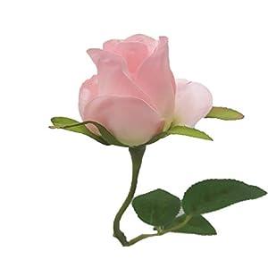 "Silk Flower Garden 1 Dozen Long-stem Rose Buds 22"" 78"