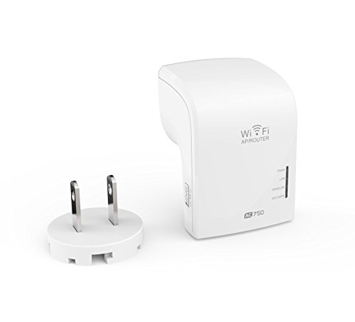 Glamorance 802.11ac 750Mbps Wi-Fi Repeater, Dual Band (2.4GHz & 5GHz) Wi-Fi Range Extender, Supports AP, Router and Repeater mode with Wall Plug, LED Indicator & WPS Button for Easy Installation