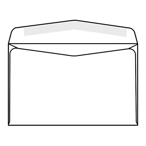 Neopost Machine Insertable Open Side Booklet Envelopes, 6' x 9-1/2', 24#, White, Side Seams (Box of 500)