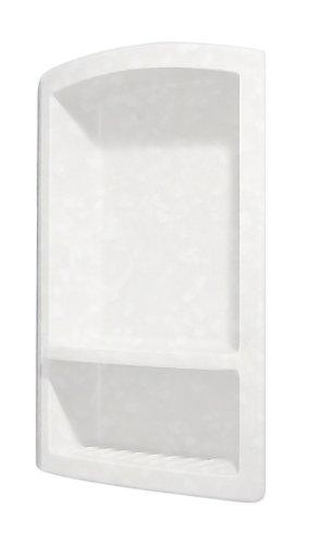 Swanstone RS-2215-011 Recessed Shampoo Shelf, Tahiti White Finish