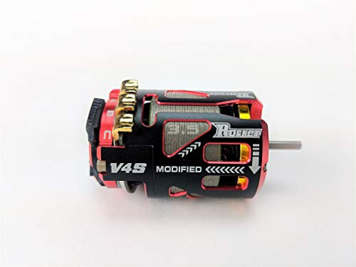 Surpass Hobby Rocket V4S Modified Brushless Racing Motor for 1/10th Scale RC Cars, Buggies, Trucks and More. (9.5 Turns)