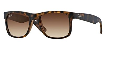 Ray-Ban RB4165 JUSTIN 710/13 55M Rubber Light Havana/Brown Gradient Sunglasses For Men For ()