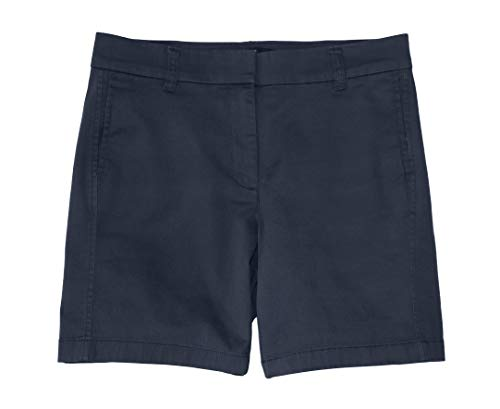 - J.Crew Women's 7 Inch Chino Stretch Cotton Shorts (6, Navy Blue)