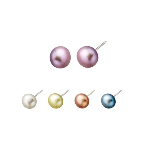 Honora Set of 5 Freshwater Cultured Pearl Stud Earrings in Sterling Silver