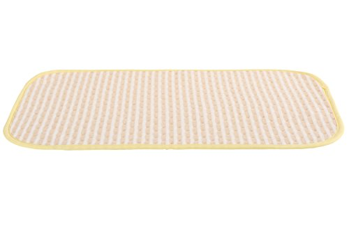 MOMLOVES - Baby Deluxe Change Pad - Infant Baby Deluxe Flannel And Bamboo Fiber Cotton Change Pad (Brown striped 11.5x17.5 inch)