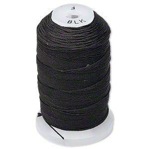 Simply Silk Beading Thread Cord Size F Black 0.0137 0.3480mm Spool 140 Yards for Stringing Weaving Knotting by Purely Silk