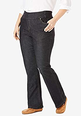 Women's Plus Size Tall Bootcut Smooth Waist Jean